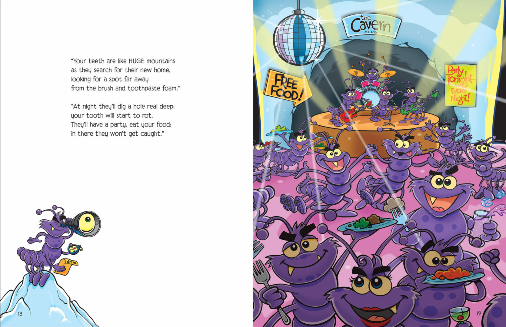 A page from one of our Illustrated books to help kids want to brush their teeth